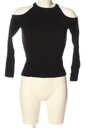 H&M Top z wycięciem czarny W stylu casual