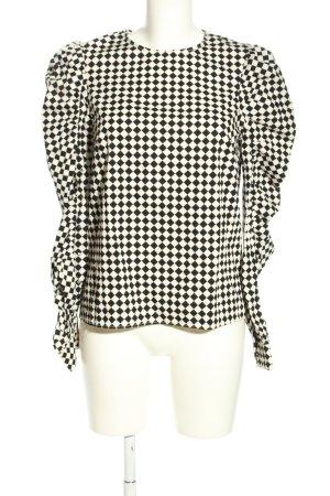 H&M Camicetta da notte nero-bianco motivo a quadri stile casual