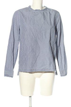 H&M Schlupf-Bluse blau-weiß Streifenmuster Business-Look