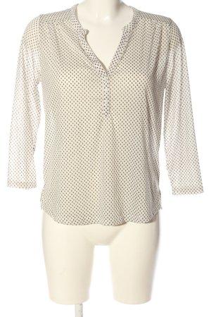 H&M Schlupf-Bluse weiß-schwarz Allover-Druck Business-Look