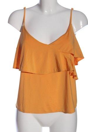 H&M Flounce Top light orange casual look