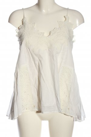 H&M Slip-over Blouse cream flower pattern casual look