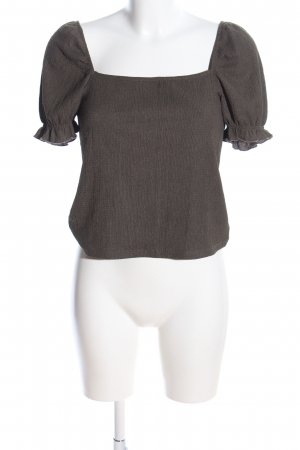 H&M Slip-over Blouse brown flecked casual look