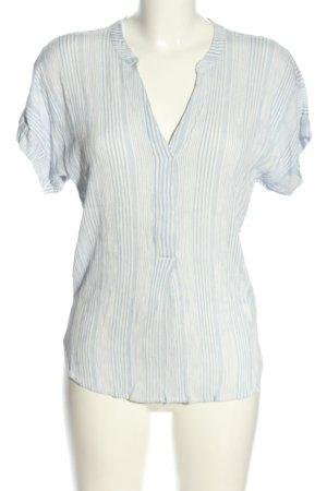 H&M Schlupf-Bluse blau-weiß Streifenmuster Casual-Look