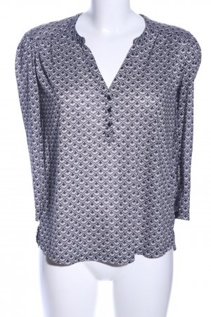 H&M Schlupf-Bluse hellgrau Allover-Druck Business-Look