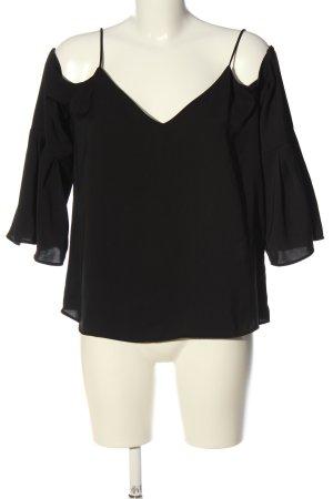 H&M Schlupf-Bluse schwarz extravaganter Stil