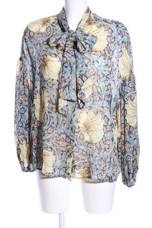 H&M Schluppen-Bluse Allover-Druck Business-Look