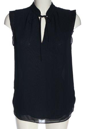 H&M Blouse avec noeuds bleu style décontracté