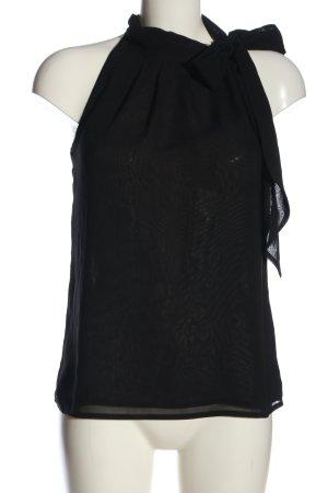 H&M Blusa con lazo negro look casual