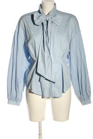 H&M Schluppen-Bluse blau Business-Look