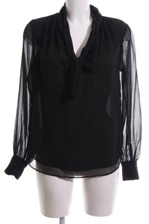 H&M Schluppen-Bluse schwarz Punktemuster Casual-Look