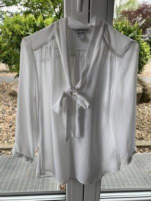 H&M Blouse avec noeuds blanc