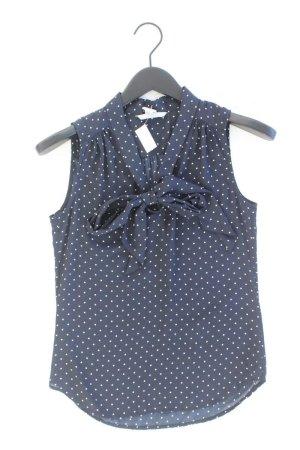 H&M Blouse avec noeuds bleu-bleu fluo-bleu foncé-bleu azur polyester