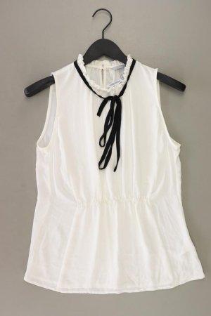 H&M Blusa con lazo blanco puro Viscosa