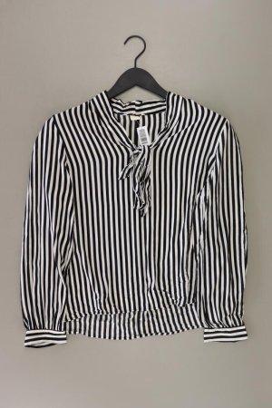 H&M Blouse avec noeuds blanc cassé viscose
