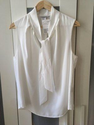 H&M Tie-neck Blouse white