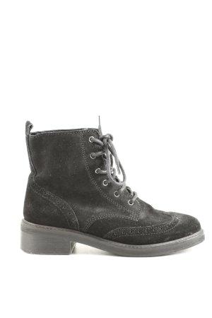 H&M Schnür-Stiefeletten schwarz Casual-Look