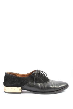 H&M Chaussures à lacets noir style d'affaires