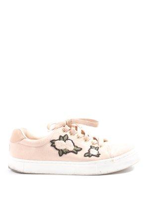 H&M Schnürsneaker pink Blumenmuster Casual-Look