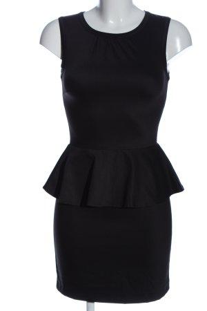 H&M Sukienka z baskinką czarny W stylu biznesowym