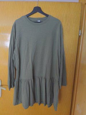 H&M Basic Peplum Dress khaki