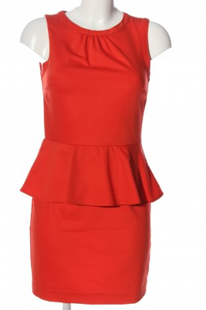 H&M Peplum Dress red business style