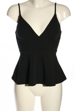 H&M Top peplum negro look casual