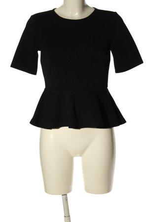 H&M Top peplo nero stile professionale
