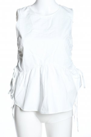 H&M Top peplum blanco look casual