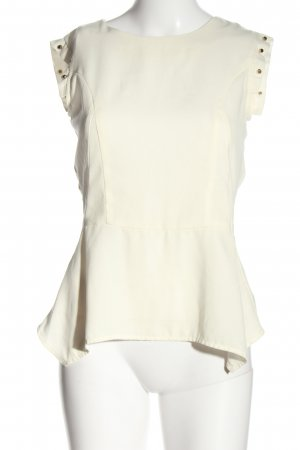 H&M Peplum Top natural white business style