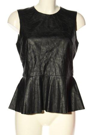 H&M Top peplum negro look casual