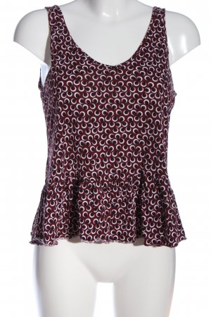 H&M Peplum Top abstract pattern casual look