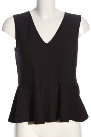 H&M Peplum Top brown casual look