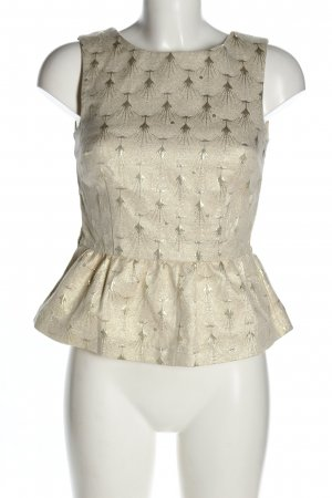 H&M Peplum Top natural white allover print casual look