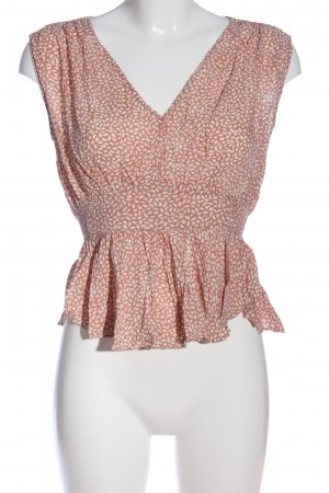 H&M Peplum Top nude-white graphic pattern casual look
