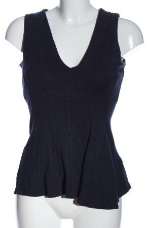 H&M Top peplo blu stile casual