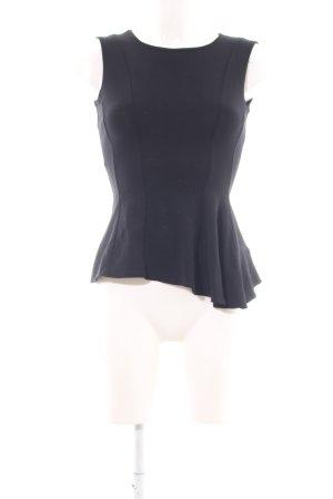 H&M Schößchentop schwarz Elegant