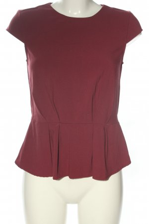 H&M Peplum Top red business style