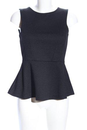 H&M Top z baskinką czarny W stylu biznesowym