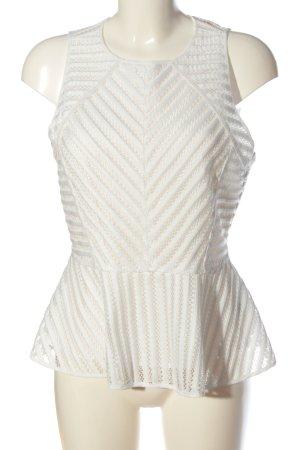 H&M Schößchentop weiß Elegant