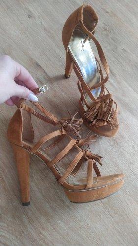 H&M Schuhe High Heels braun Gr. 38 wie neu