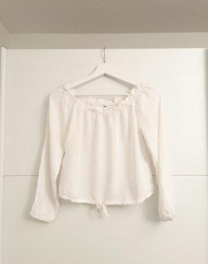 H&M Basic Eénschoudershirt wit