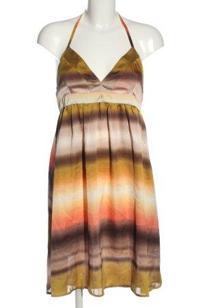 H&M Halter Dress brown-light orange casual look