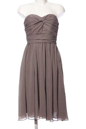 H&M schulterfreies Kleid hellgrau Elegant