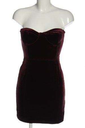 H&M schulterfreies Kleid rot Party-Look