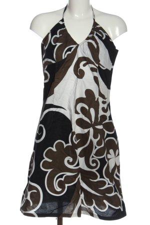 H&M schulterfreies Kleid abstraktes Muster Casual-Look