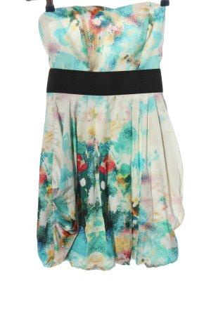H&M schulterfreies Kleid Blumenmuster Casual-Look
