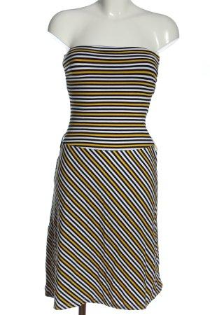 H&M schulterfreies Kleid Streifenmuster Casual-Look