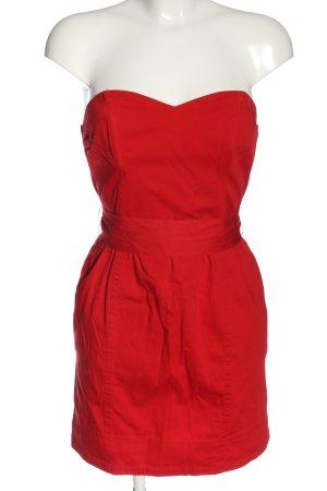 H&M schulterfreies Kleid rot Elegant