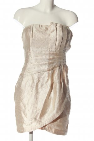 H&M schulterfreies Kleid creme Elegant